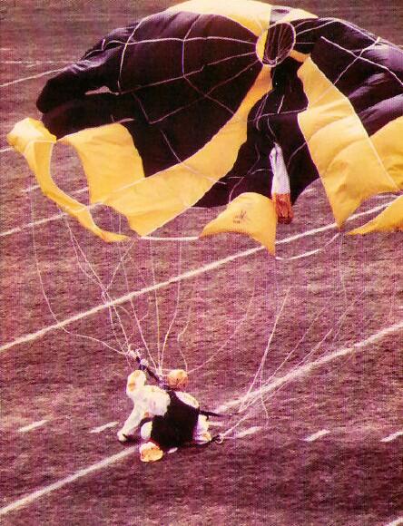 ECU Homecoming Stadium Jump - landing