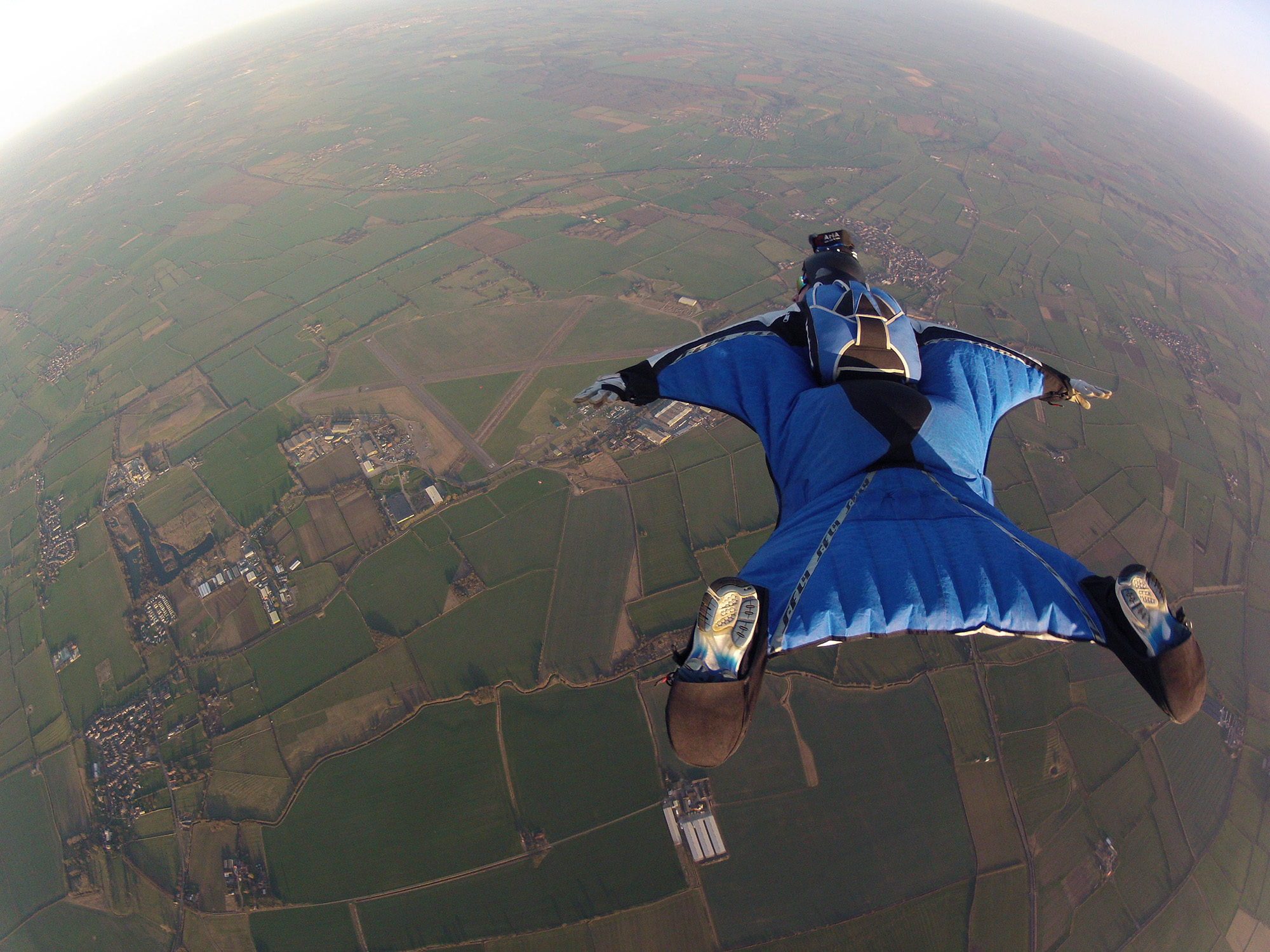 Wingsuiting over Langar