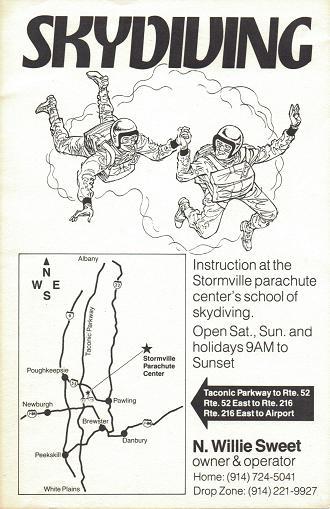 Stormville New York Parachute Center Flyer
