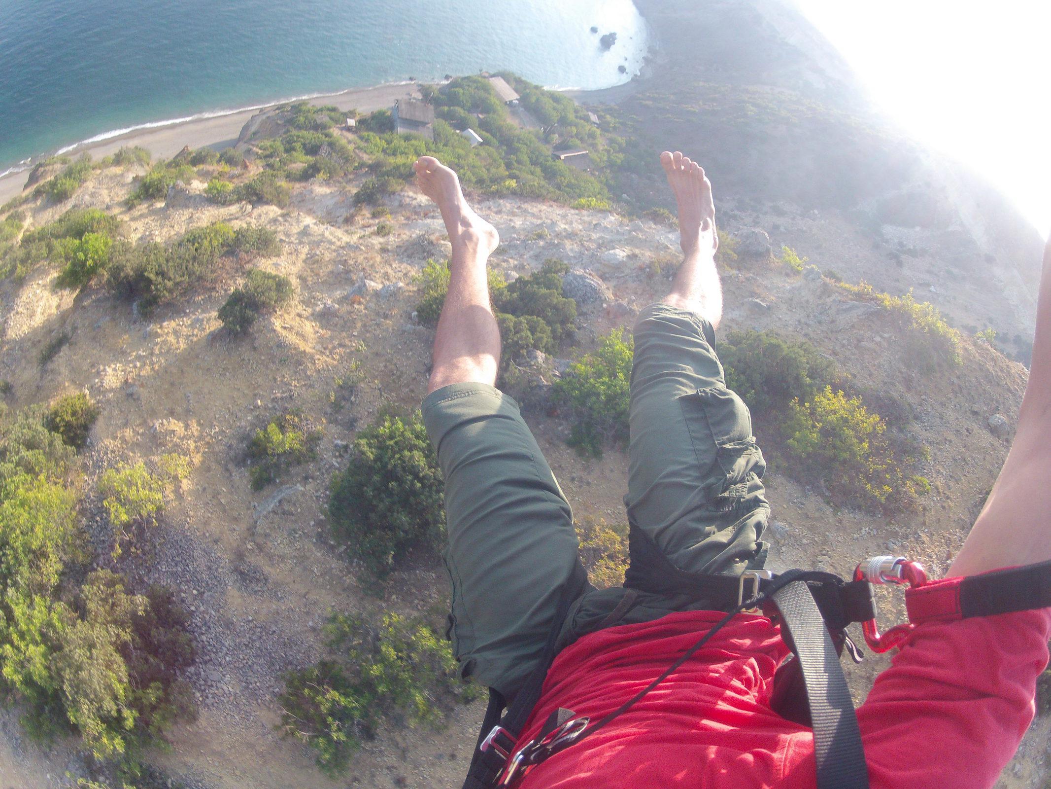 Barefoot speedflying