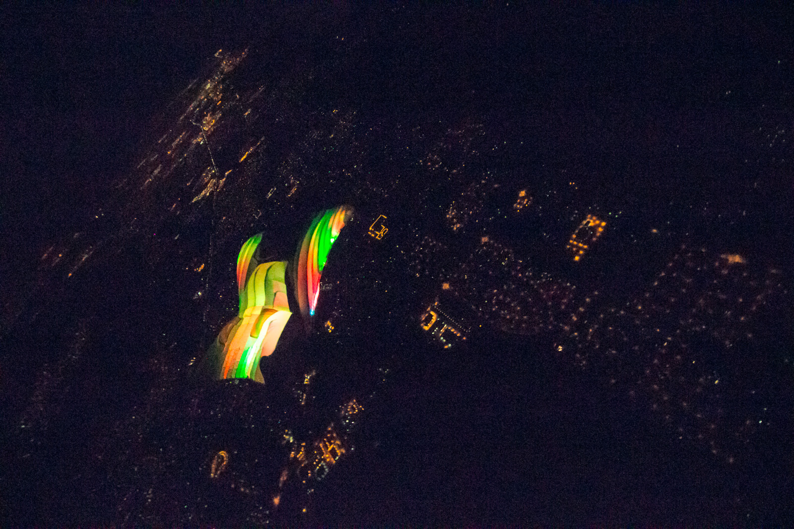 Squirrel Funk wingsuit with 300 LEDs