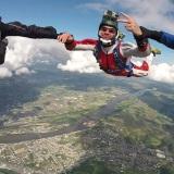 Skydiving over Saumur