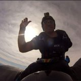 Look no hand wing suit! 1ArmSkydiver