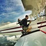 Stearman Biplane Jump