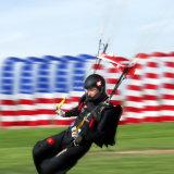 Speed landing with flags Martin Duppenthaler