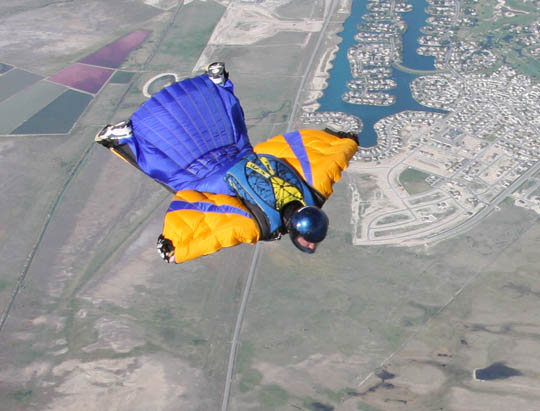 Flying the new wingsuit