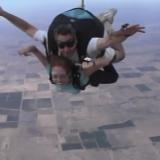 Denise skydiving