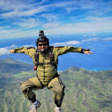 Sit Flying over Hawaii