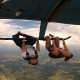Hanging from the Skids of an R-44