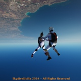 SkydiveSicilia FF over Siracusa Bay