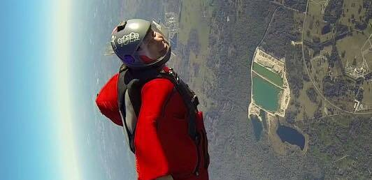 First wingsuit dock