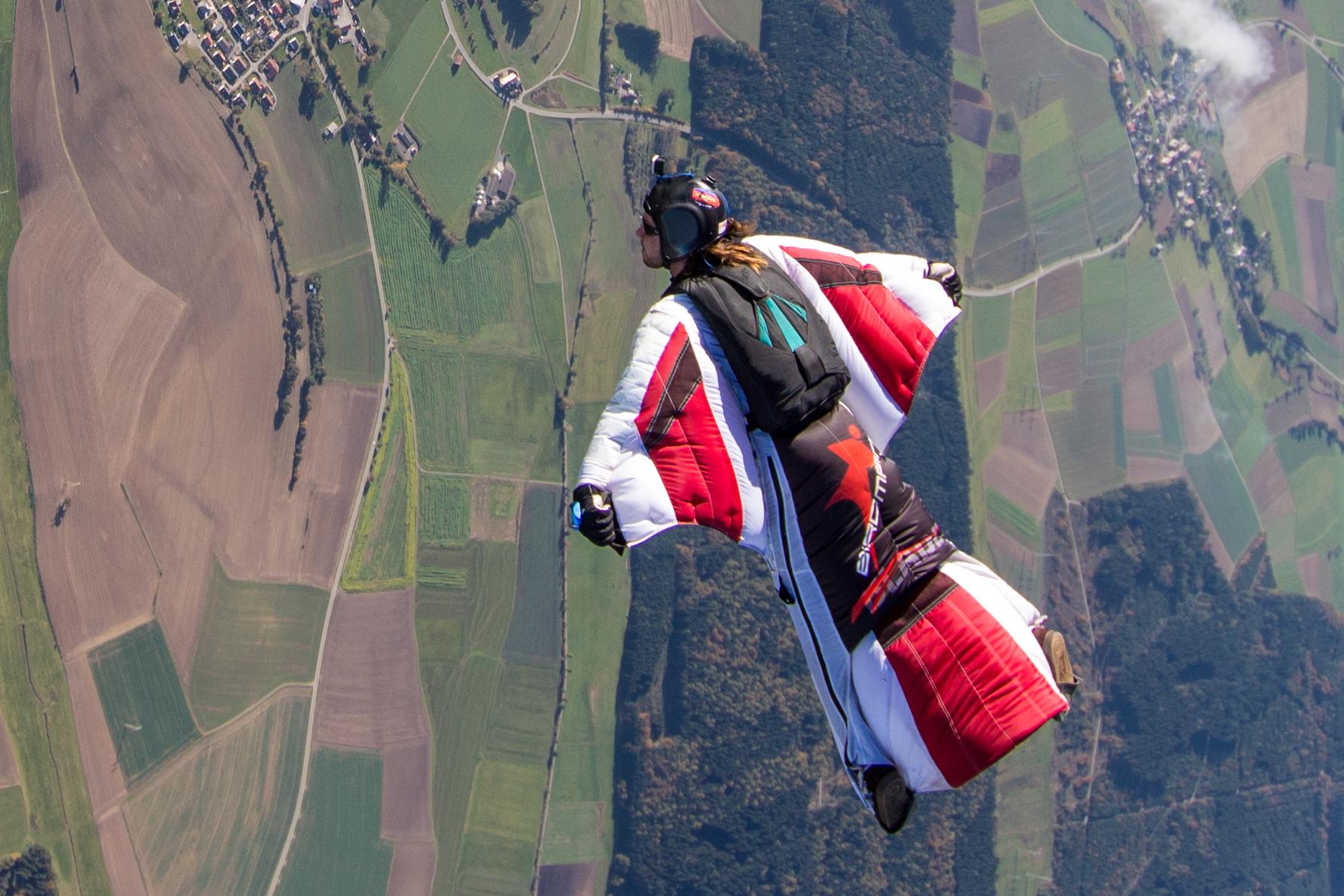 Wingsuit over Saulgau
