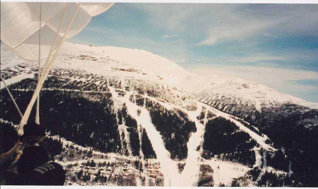 Checking out the ski-slopes in Åre