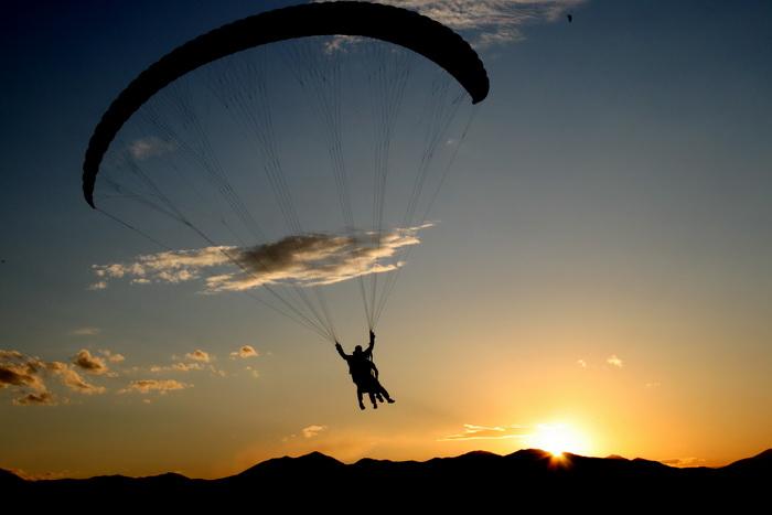 paraglider tandem in Utah