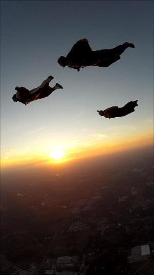 Sunset Wingsuit Flock