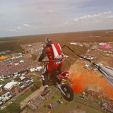 Motor BASE jump from 70 meter
