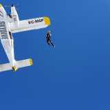 Efraim Folgerts exiting Skydive Spain's Dornier G92