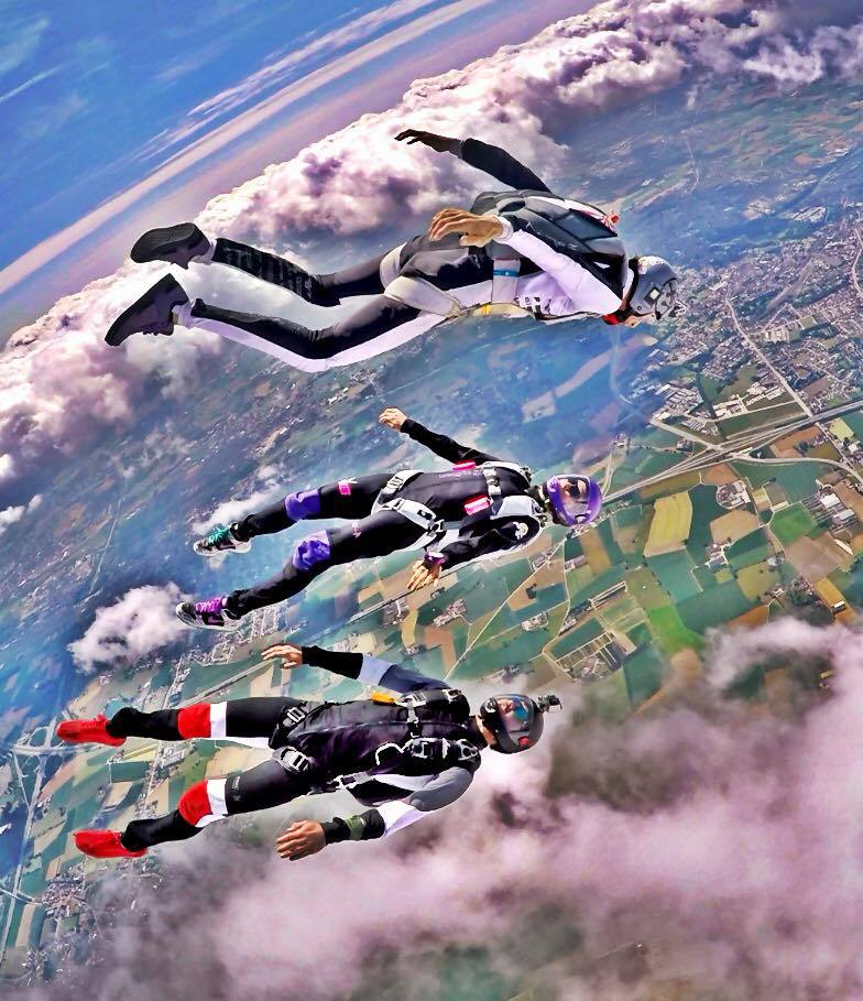Happy flying above Belgium