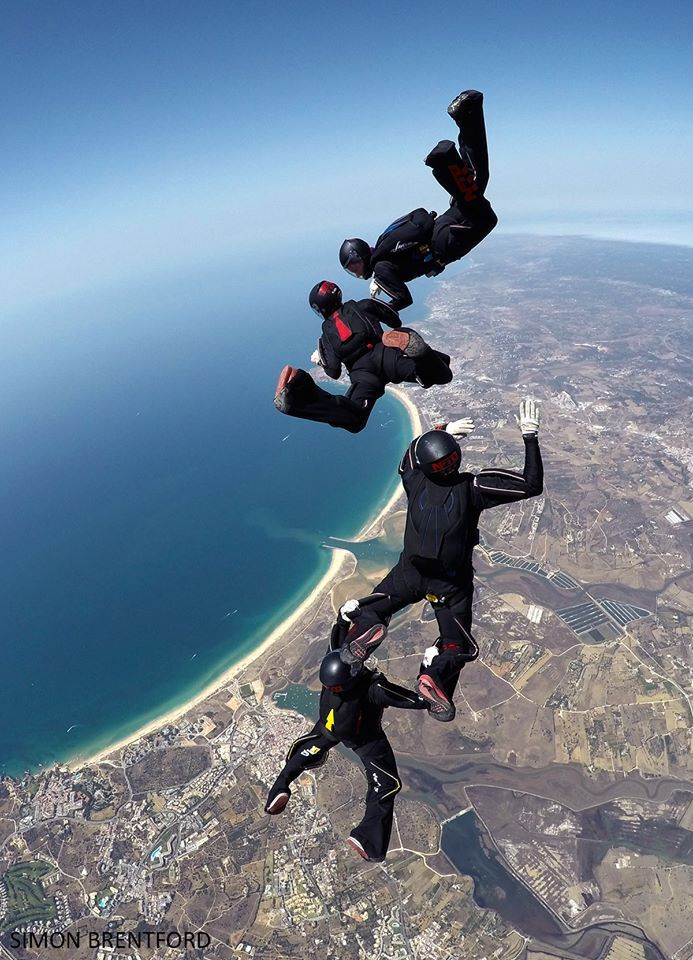 Team training at Skydive Algarve 365 days a year