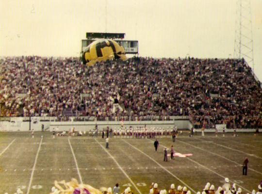 ECU Homecoming Stadium Jump