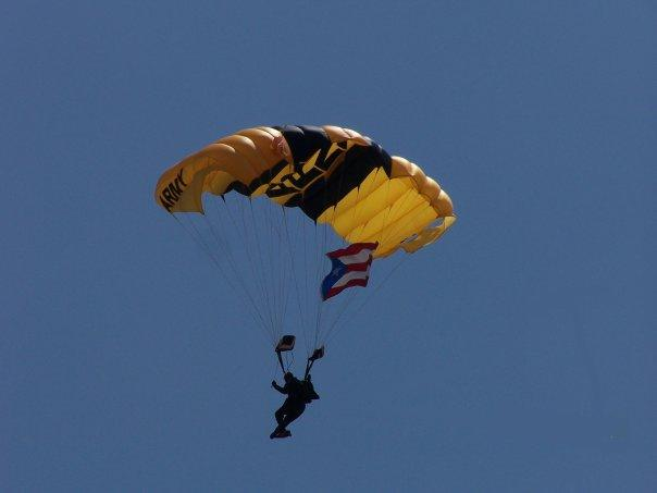 Golden Knights Landing in Puerto Rico