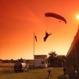 landing at sunset #2
