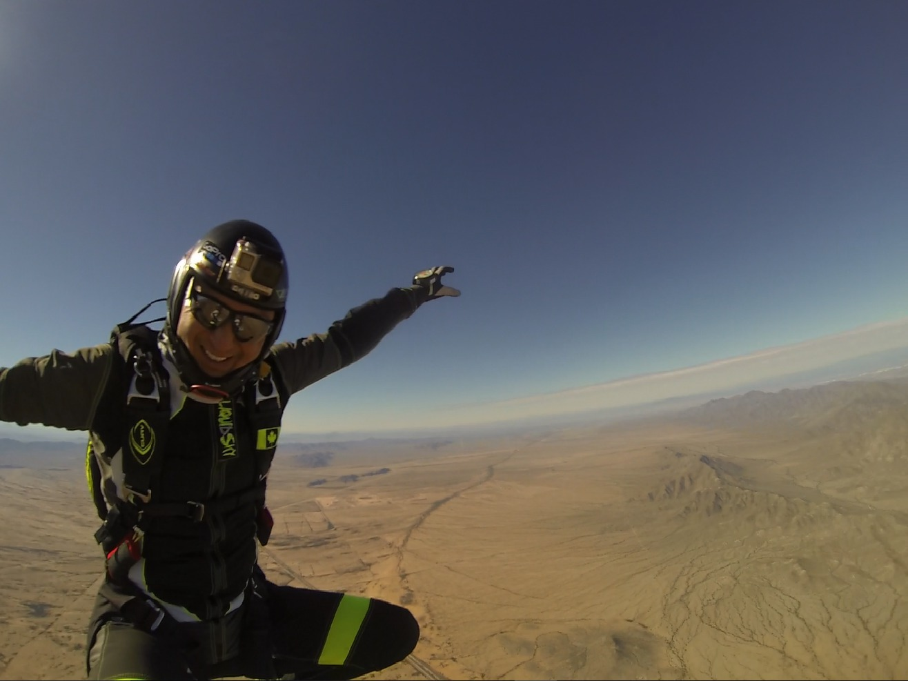 Sit fly at Skydive Phoenix