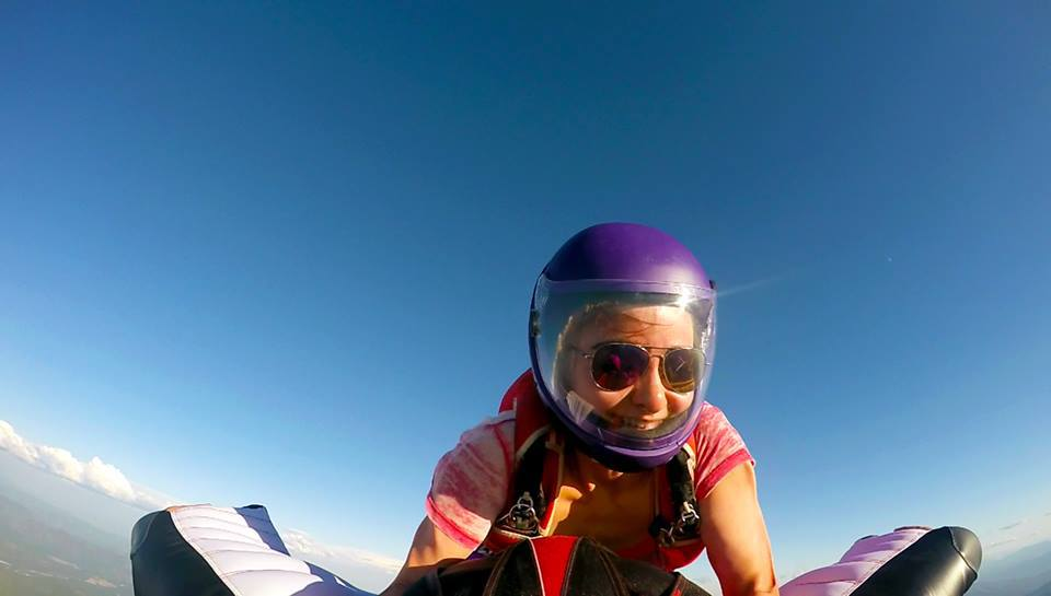 First successful wingsuit rodeo!