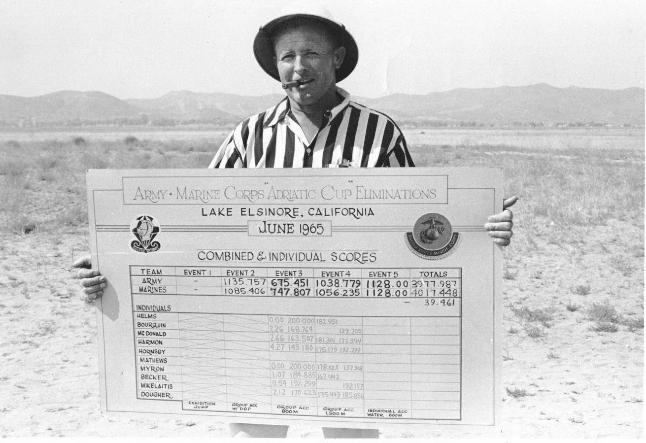 Art Armstrong with the Scoreboard
