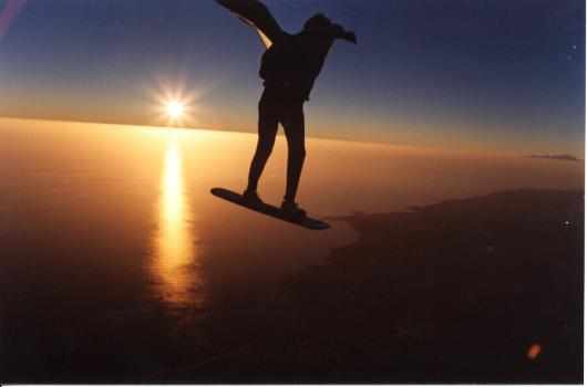 skysurf gran canaria sunset