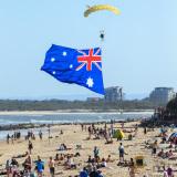 Australia Flag Skydive