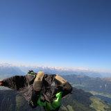 Wingsuit balloon jump