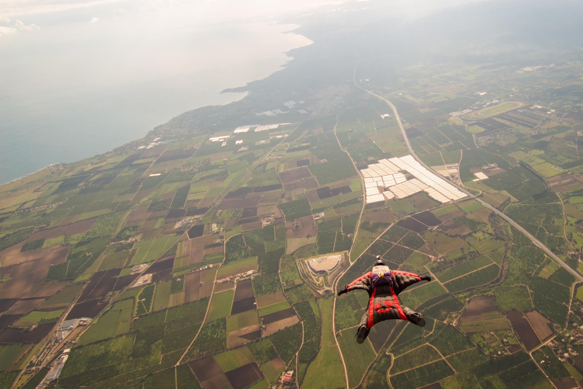 Flying over Sicily