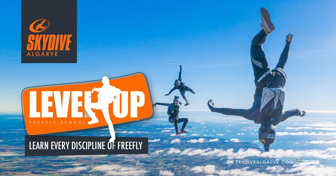 Level Up Freefly Week Skydive Algarve