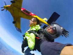 Tandem skydiving exit at Skydive Hollister California