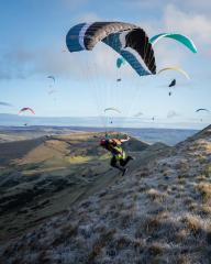 Speed flying Peak District